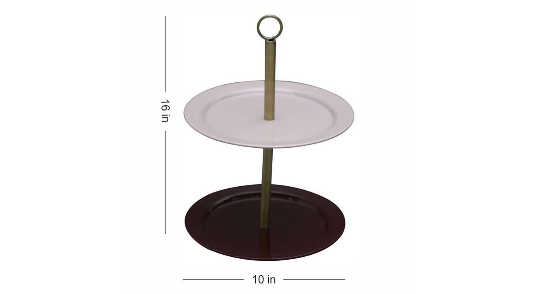 Ariel cake stand  pink maroon1121 5