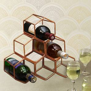 August Wine Rack (Ebony Finish, Silver) by Urban Ladder - Front View Design 1 - 378745