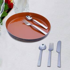 Bruno Cutlery Set (Orange & Silver) by Urban Ladder - Front View Design 1 - 378852