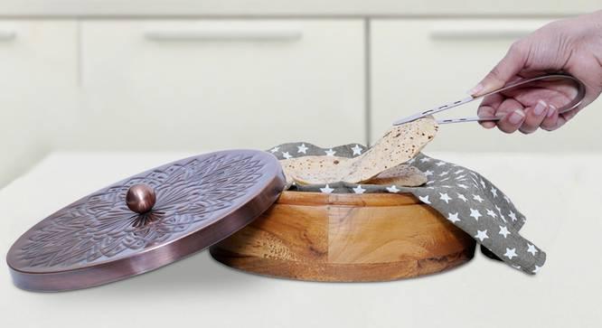 Dua Chapati Box (Brown) by Urban Ladder - Front View Design 1 - 378965