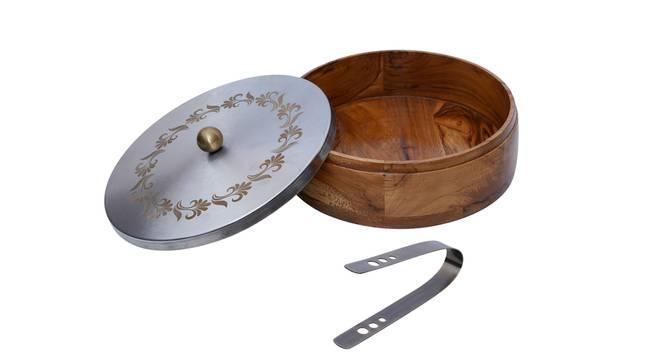 Dua Chapati Box (Brown & Silver) by Urban Ladder - Cross View Design 1 - 378973