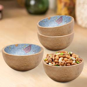 Ione Bowls (Blue, Set Of 4 Set) by Urban Ladder - Front View Design 1 - 379262