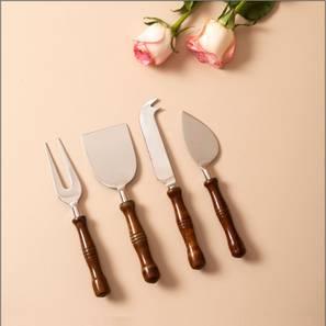 Jasper Knives - Set of 4 (Brown) by Urban Ladder - Front View Design 1 - 379320