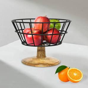 Kagan Fruit Basket (Black) by Urban Ladder - Front View Design 1 - 379386
