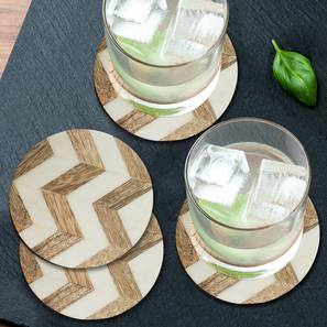 Millie coasters    set of 4 gold white99 lp
