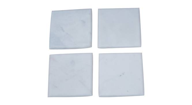Millie Coasters - Set of 4 (White) by Urban Ladder - Front View Design 1 - 379587