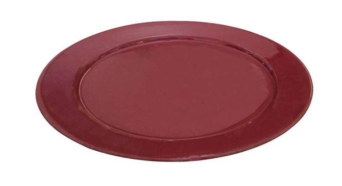 Miri Dessert Plates (Maroon, Single Set) by Urban Ladder - Cross View Design 1 - 379599