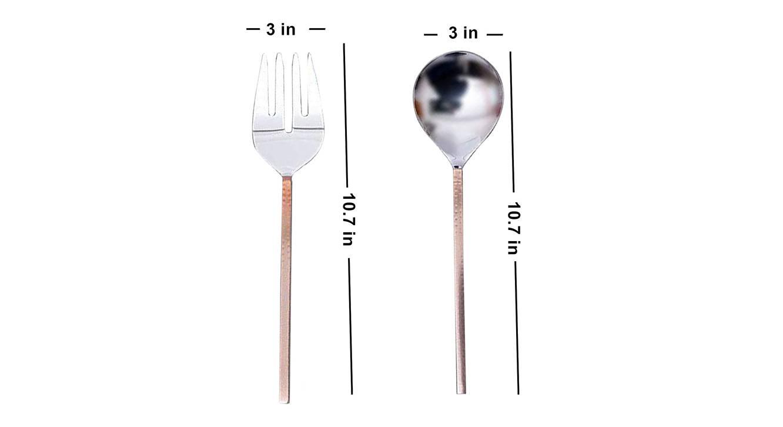 Otis spoons   set of 2 copper silver1292 5