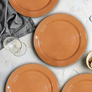 Pike Dessert Plates (Orange, Set Of 4 Set) by Urban Ladder - Front View Design 1 - 379820