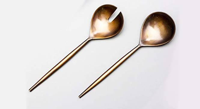 Oscar Spoon & Fork - Set of 2 (Copper) by Urban Ladder - Cross View Design 1 - 379832