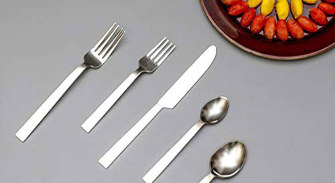 Roman Cutlery Set (Silver) by Urban Ladder - Front View Design 1 - 379960