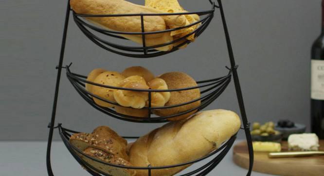 Sadie Fruit Basket (Black) by Urban Ladder - Cross View Design 1 - 379967