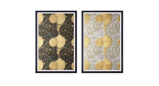 Dehlia Wall Art (Gold) by Urban Ladder - Front View Design 1 - 380318