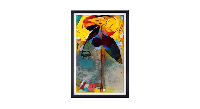 Faisa Wall Art (Yellow) by Urban Ladder - Front View Design 1 - 380398