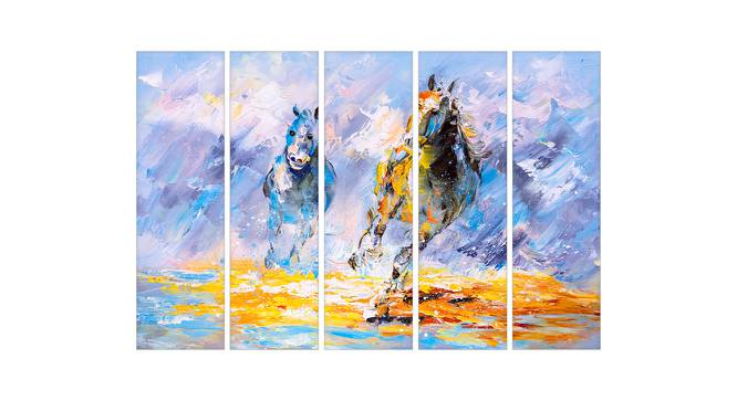 Gina Wall Art (Sky Blue) by Urban Ladder - Front View Design 1 - 380483
