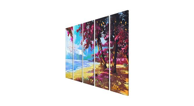 Ileena Wall Art (Pink) by Urban Ladder - Cross View Design 1 - 380503