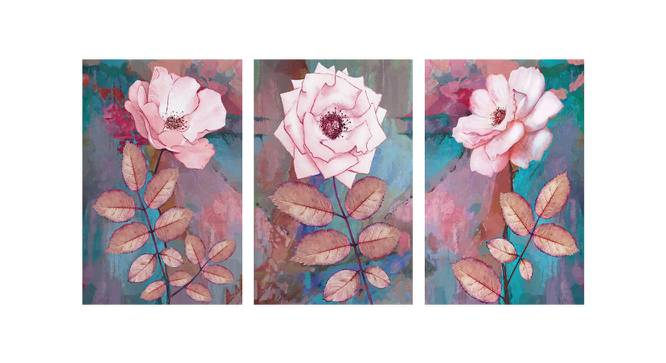 Oda Wall Art (Pink) by Urban Ladder - Front View Design 1 - 380657