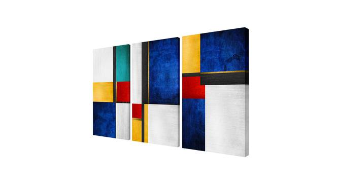 Strella Wall Art (Blue) by Urban Ladder - Cross View Design 1 - 380757