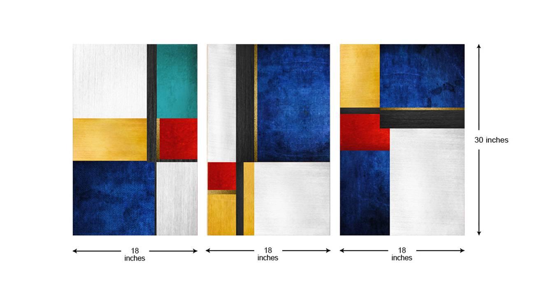 Strella wall art set of 3 6