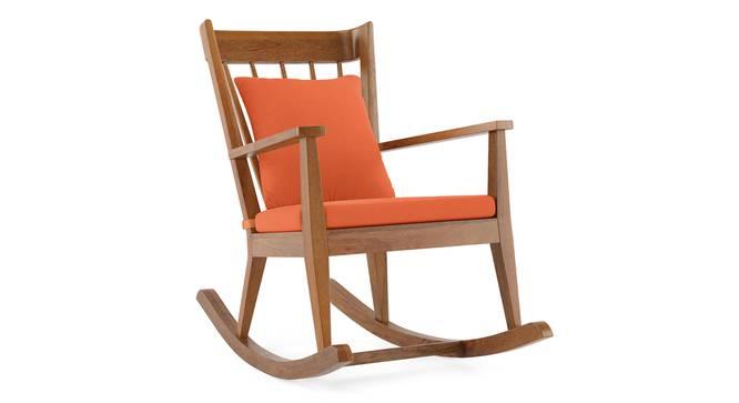 Atticus Rocking Chair (Amber, Amber Walnut Finish) by Urban Ladder - Cross View Design 1 -