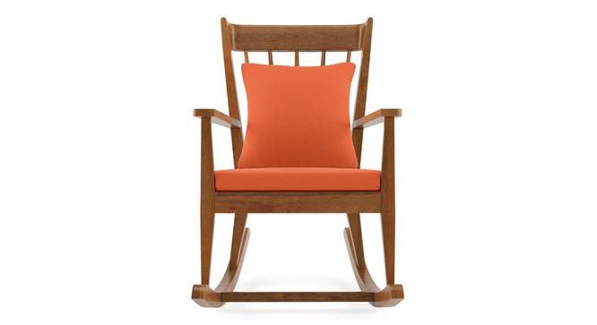 Atticus Rocking Chair (Amber, Amber Walnut Finish) by Urban Ladder - Front View Design 1 -