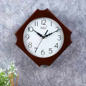Syfyn Wall Clock (Brown) by Urban Ladder - Front View Design 1 - 381539