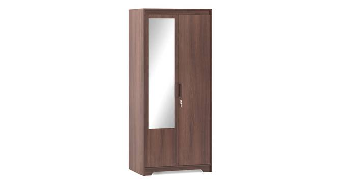 Hilton 2 Door Wardrobe (With Mirror, Without Drawer Configuration, Spiced Acacia Finish, With Lock, 5.95 Feet Height) by Urban Ladder - Cross View Design 1 - 381628