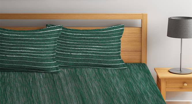 Amanda Bedcover (Green, King Size) by Urban Ladder - Front View Design 1 - 381971