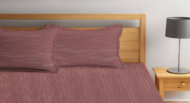 April Bedcover (Maroon, King Size) by Urban Ladder - Front View Design 1 - 381998