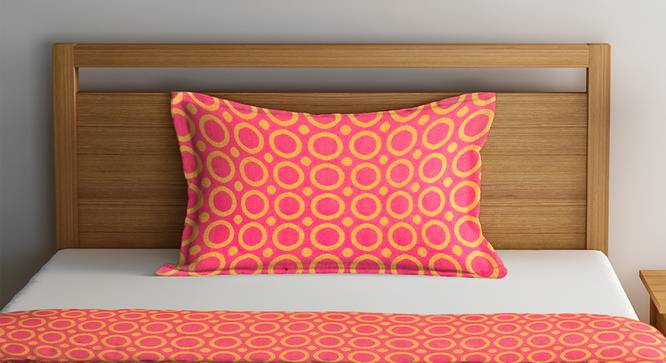 Caleb Bedcover (Pink, Single Size) by Urban Ladder - Front View Design 1 - 382099