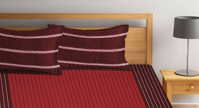 Braydon Bedcover (Maroon, King Size) by Urban Ladder - Front View Design 1 - 382102