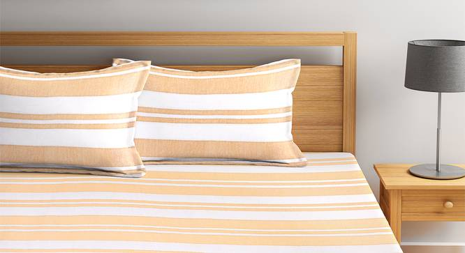 Colby Bedcover (Mustard, King Size) by Urban Ladder - Front View Design 1 - 382177