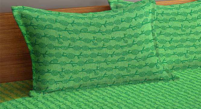Dane Bedcover (Green, King Size) by Urban Ladder - Cross View Design 1 - 382187