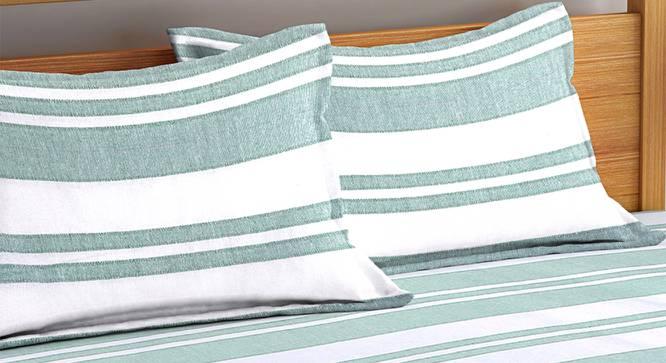 Misaki Bedsheet Set (Green, King Size) by Urban Ladder - Cross View Design 1 - 382232