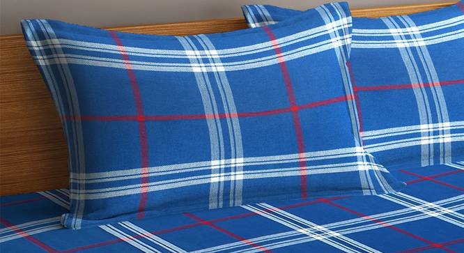 Frankie Bedcover (Blue, King Size) by Urban Ladder - Cross View Design 1 - 382357