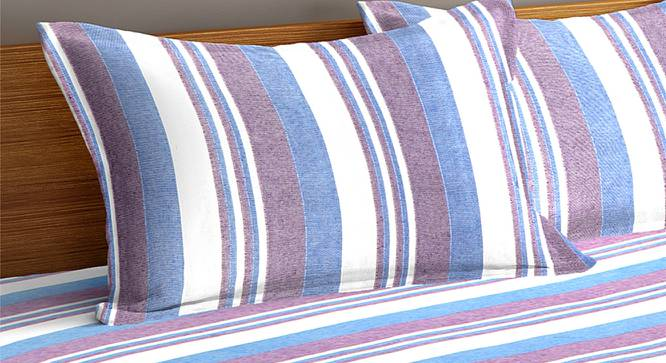 Flynn Bedcover (Blue, King Size) by Urban Ladder - Cross View Design 1 - 382358