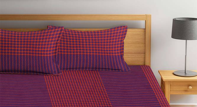 Indiana Bedcover (Purple, King Size) by Urban Ladder - Front View Design 1 - 382472