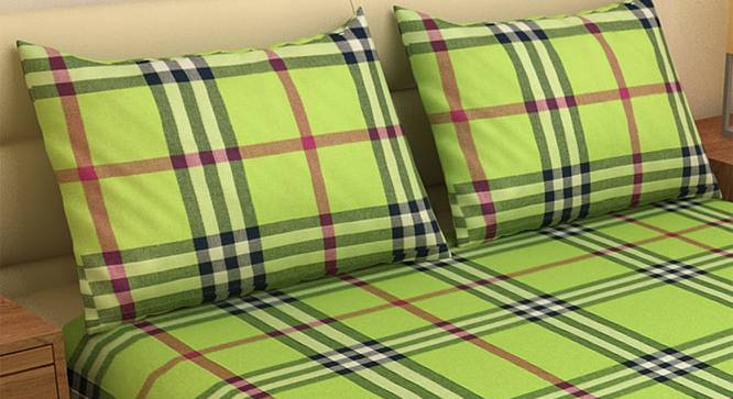 Jay Bedcover (Green, King Size) by Urban Ladder - Front View Design 1 - 382556
