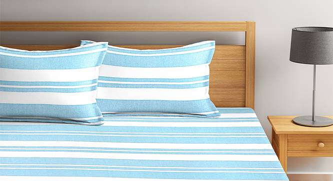Jemma Bedcover (Sky Blue, King Size) by Urban Ladder - Front View Design 1 - 382557
