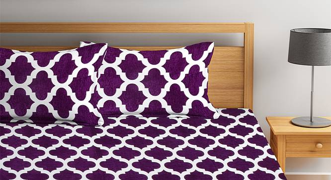 Jimmy Bedcover (Purple, King Size) by Urban Ladder - Front View Design 1 - 382558