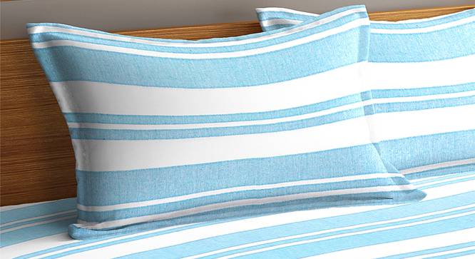 Jemma Bedcover (Sky Blue, King Size) by Urban Ladder - Cross View Design 1 - 382566