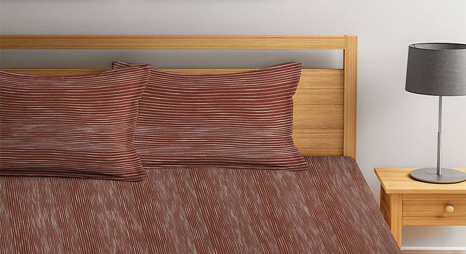 Kacey Bedcover (Brown, King Size) by Urban Ladder - Front View Design 1 - 382597