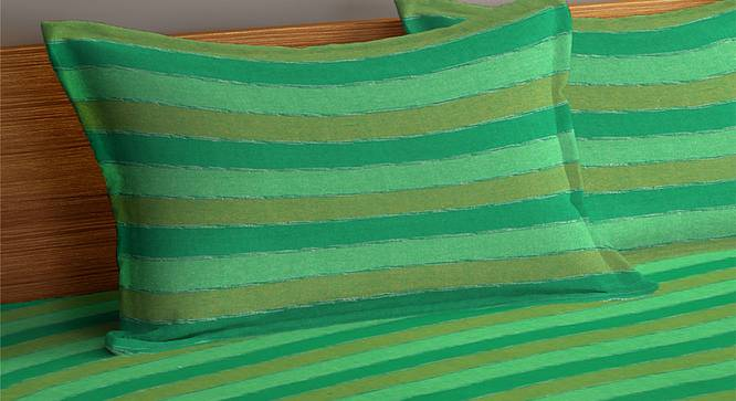 Kailey Bedcover (Green, King Size) by Urban Ladder - Cross View Design 1 - 382606