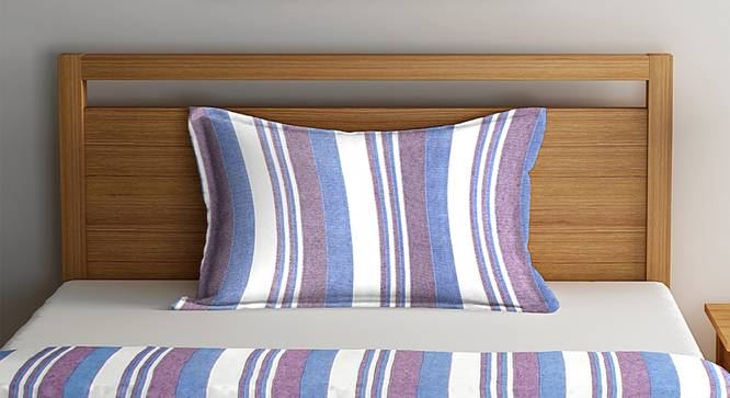 Landon Bedcover (Purple, Single Size) by Urban Ladder - Front View Design 1 - 382673