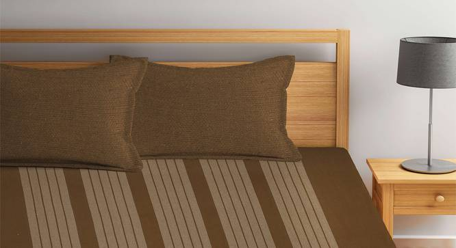 Maddie Bedcover (Brown, King Size) by Urban Ladder - Front View Design 1 - 382760