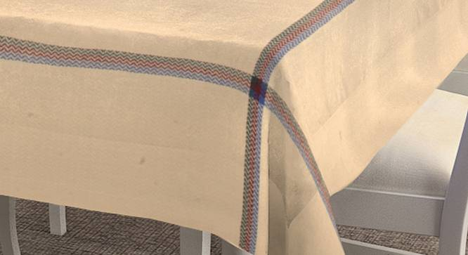 """Molly Table Cover (Beige, 150 x 150 cm  (60"""" x 60"""") Size) by Urban Ladder - Cross View Design 1 - 382852"""