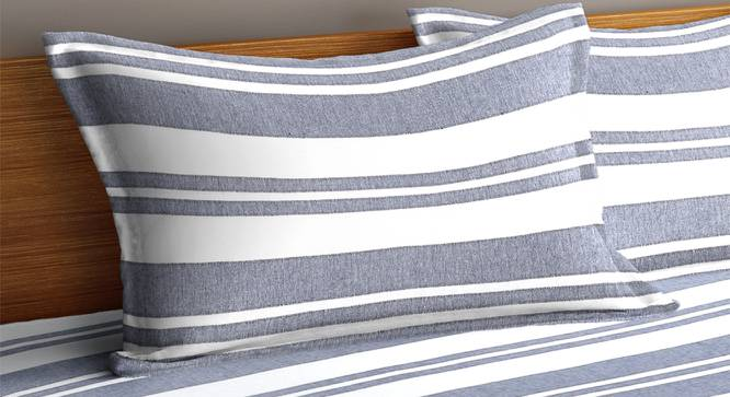 Mikayla Bedcover (Grey, King Size) by Urban Ladder - Cross View Design 1 - 382855