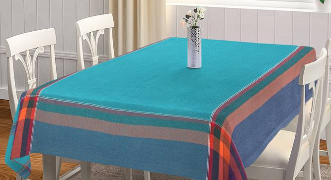 """Pebbles Table Cover (Turquoise, 150 x 230 cm  (60"""" x 90"""") Size) by Urban Ladder - Front View Design 1 - 382931"""