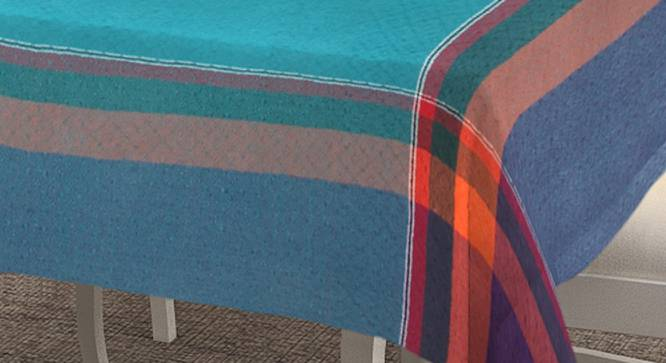 """Pebbles Table Cover (Turquoise, 150 x 230 cm  (60"""" x 90"""") Size) by Urban Ladder - Cross View Design 1 - 382940"""