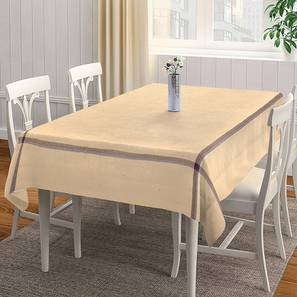 """Pippa Table Cover (Beige, 150 x 230 cm  (60"""" x 90"""") Size) by Urban Ladder - Front View Design 1 - 382978"""